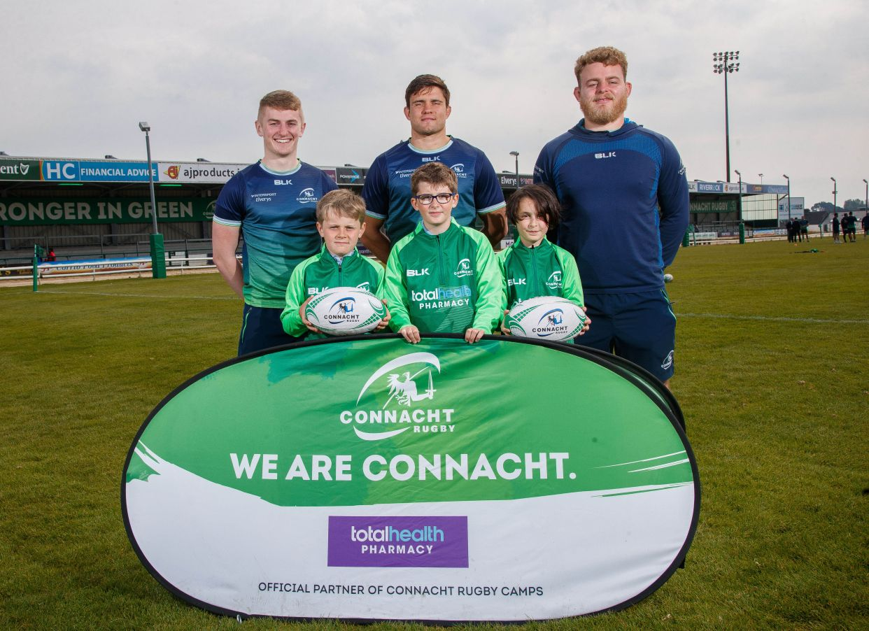 totalhealth Pharmacy continues partnership with Connacht Rugby as official sponsors of their Summer Camps for 2019